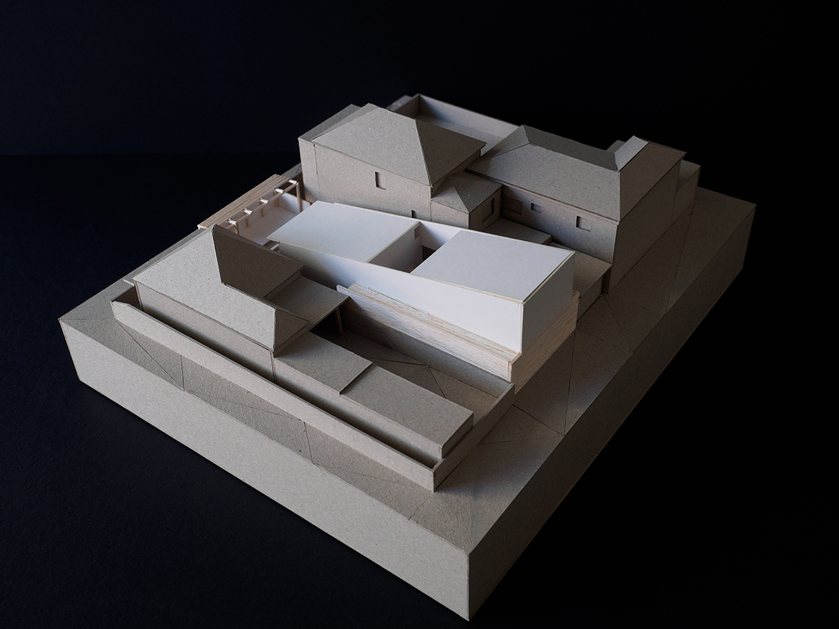 Image Of A Cardboard Model Of A House.