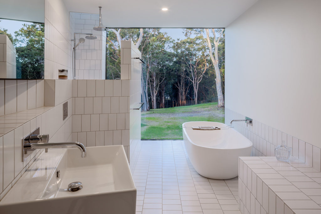 Image of a white bathroom