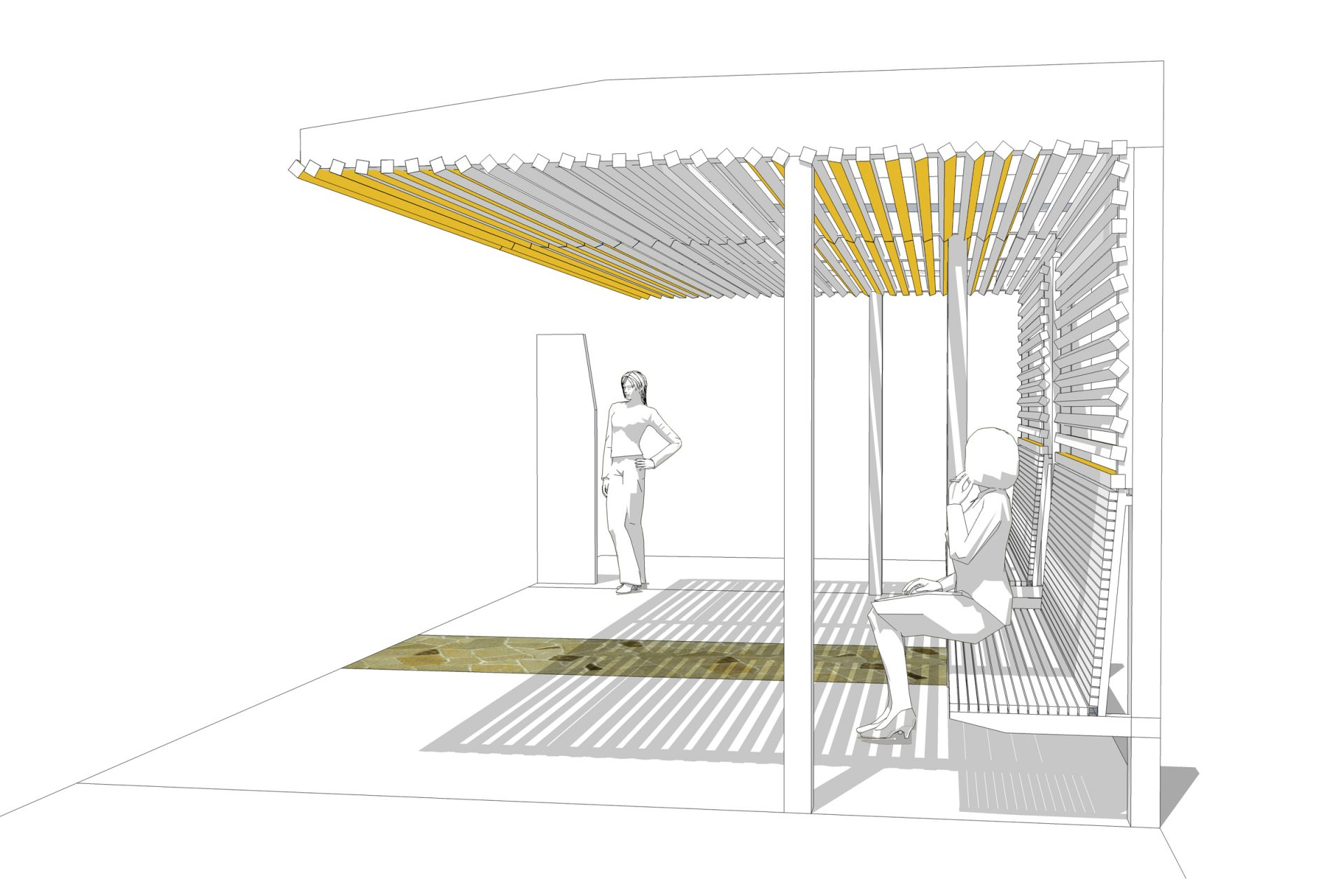 Rendering Of A Bus Shelter.
