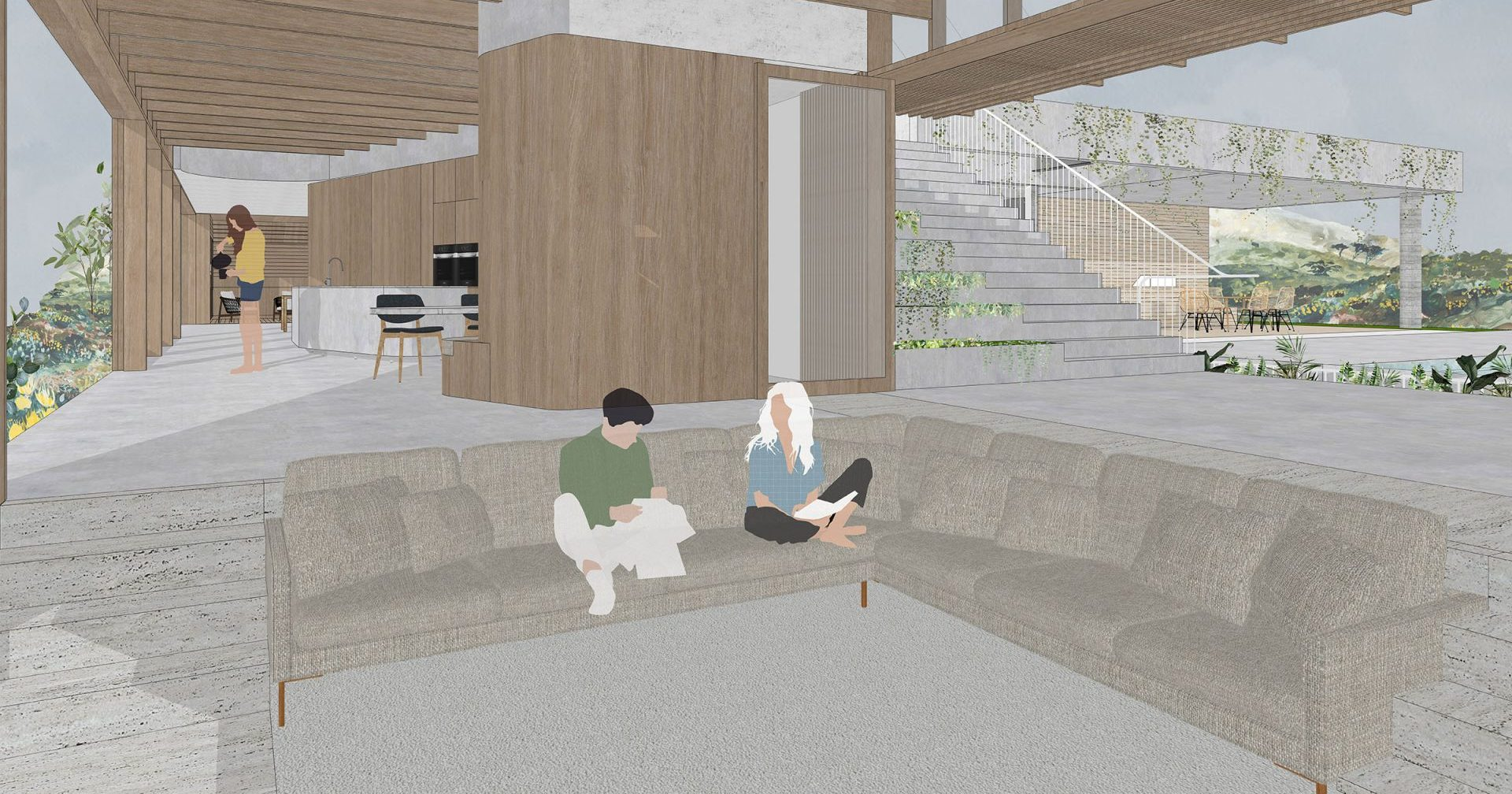 Rendering Of A Living Area.